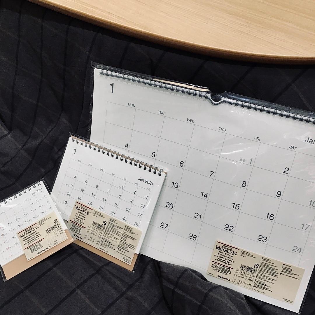 【トキハわさだタウン】無印良品のカレンダー