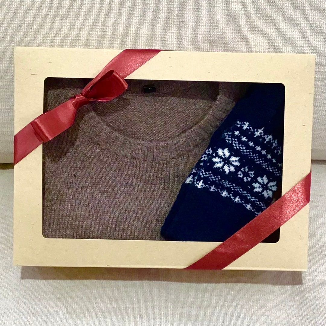 クリスマスに贈るセーター