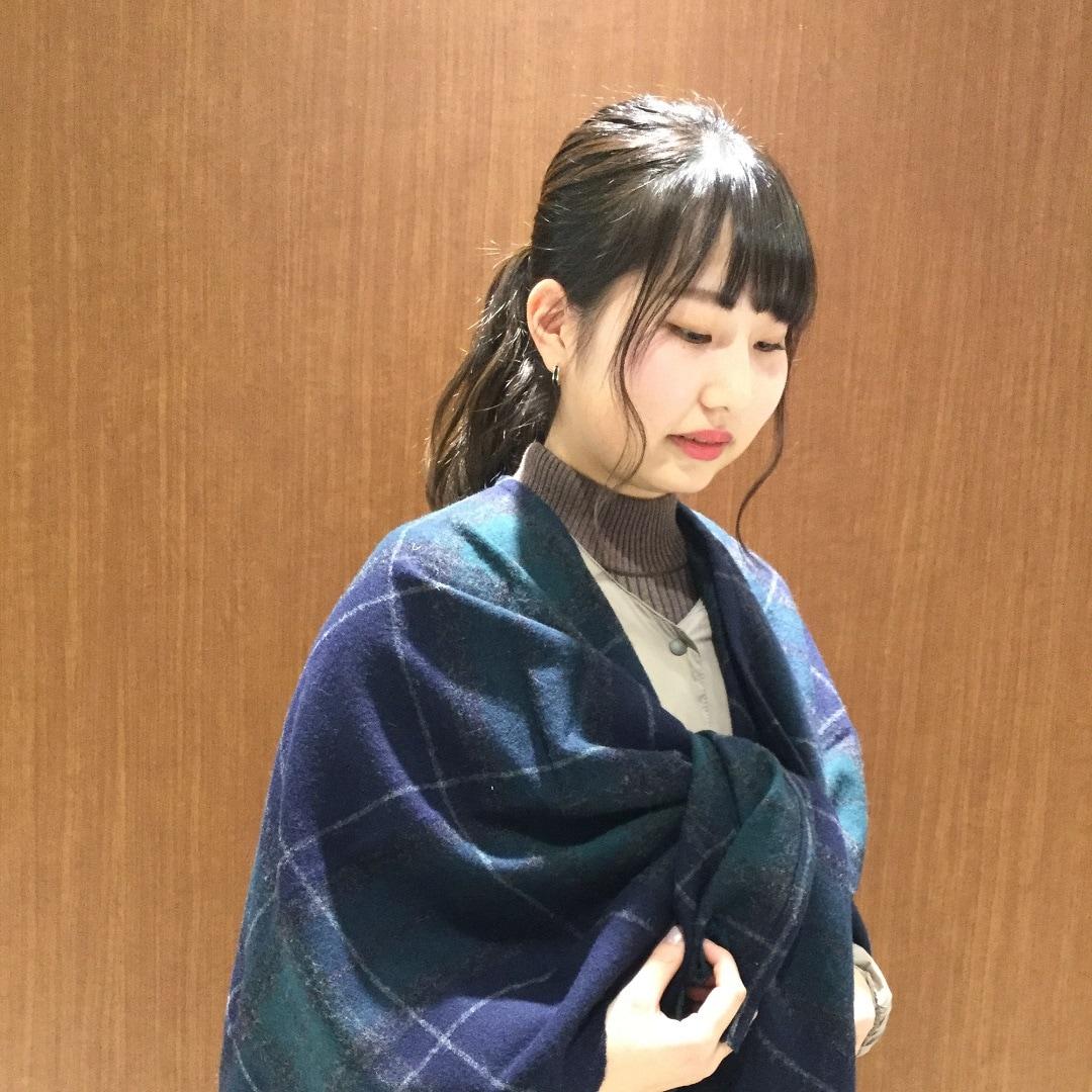 キービジュアル画像:【京都ポルタ】ヤクウール大判柄マルチケープストール スタッフのおすすめ