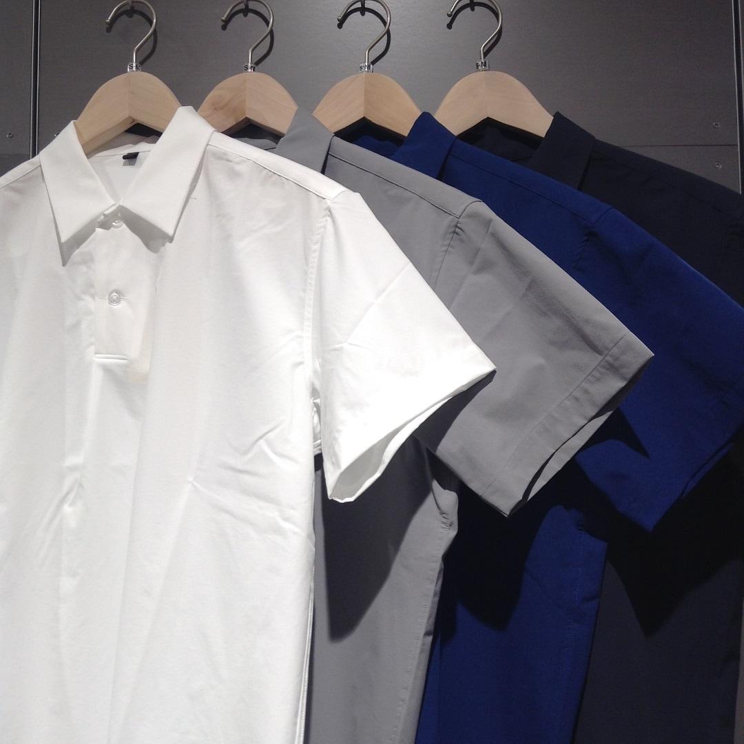 キービジュアル画像:スタッフのおすすめ『乾きやすいストレッチポロカラー半袖シャツ』で夏を快適に