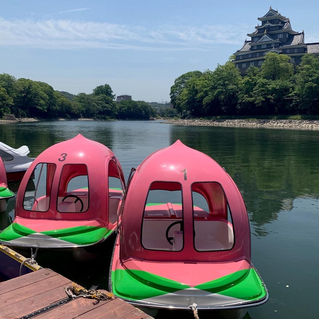 キービジュアル画像:桃ボートに乗ってみました おかやま便り