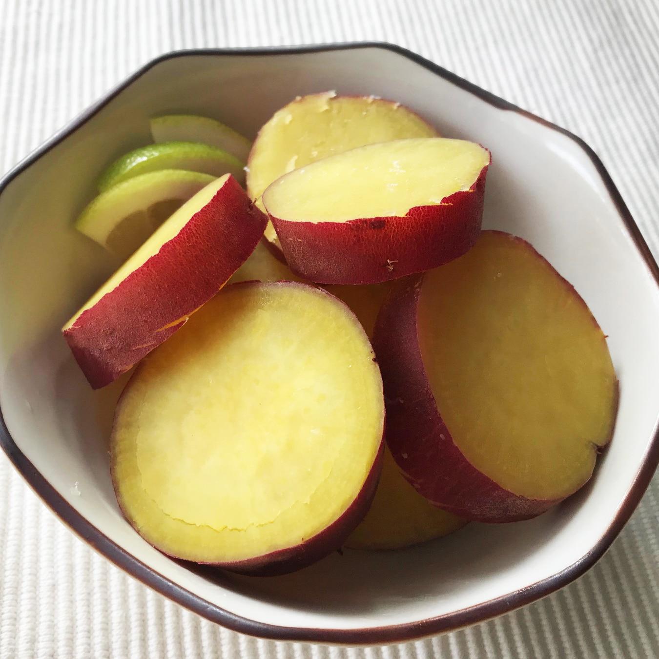 キービジュアル画像:【有楽町】さつまいものグリーンレモン煮|青果売場スタッフの手づくりレシピ