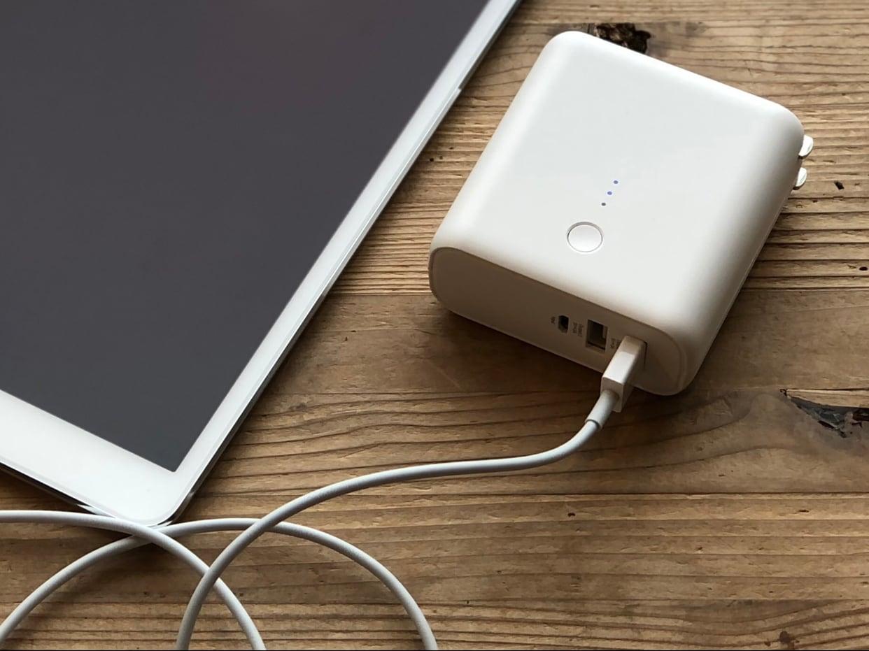 【シエスタハコダテ】ひとつ二役の優れもの『USB用モバイルバッテリー・急速充電機付』