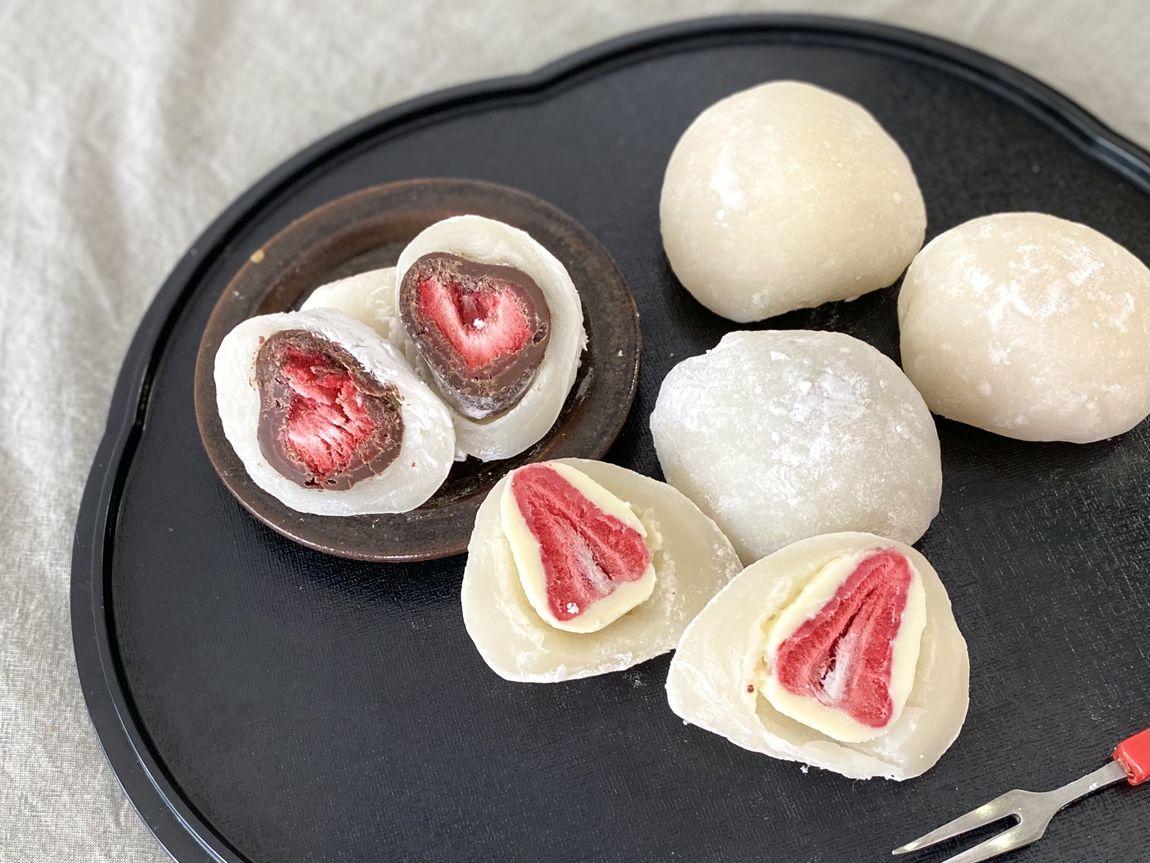 【シエスタハコダテ】チョコがけいちごでつくる、いちご大福