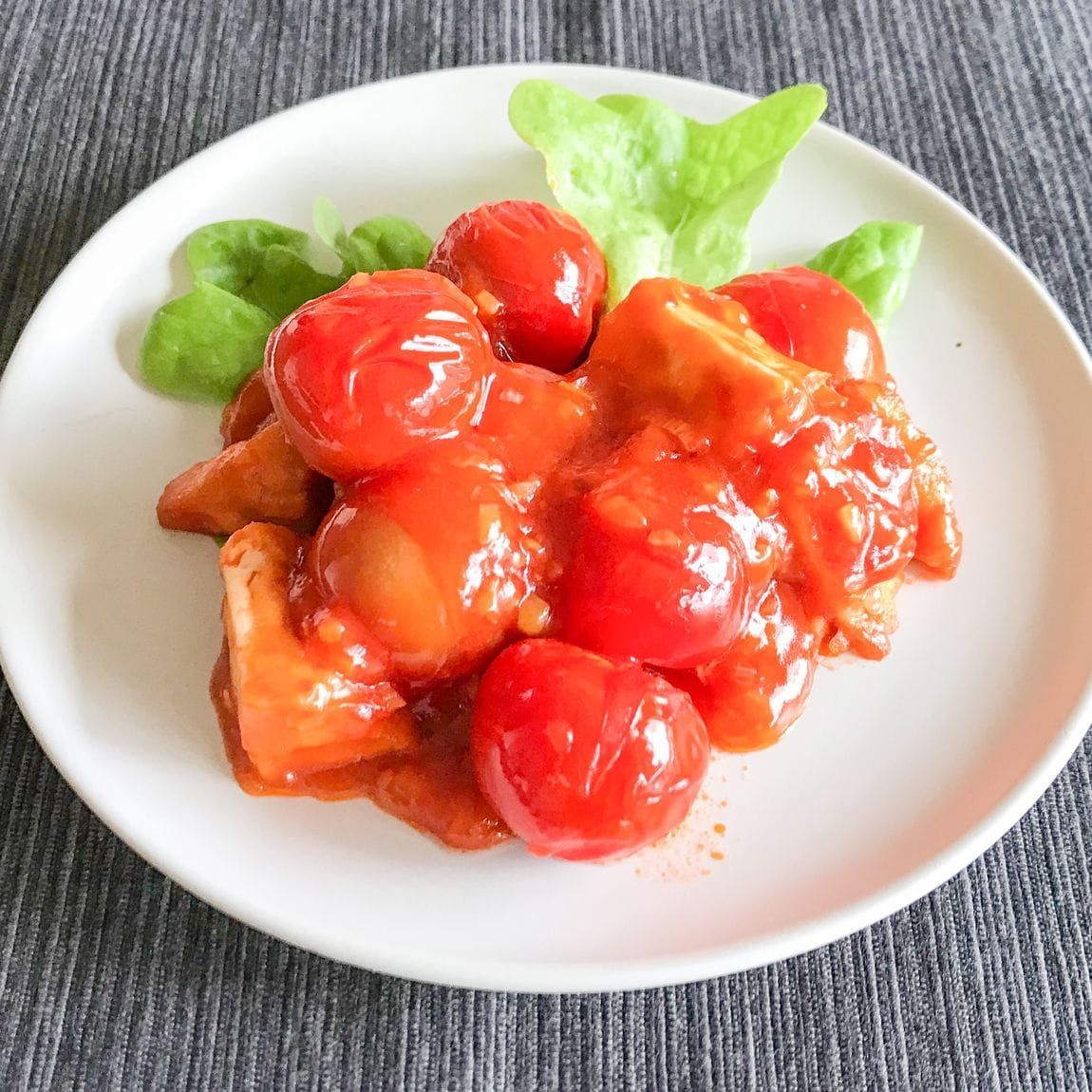 【京都山科】トマトと厚揚げのチリソース|季節野菜のレシピ