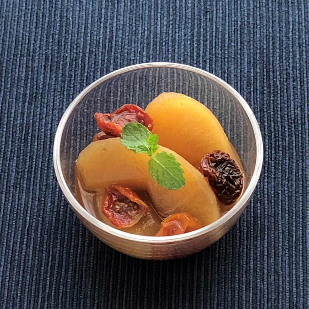 【京都山科】りんごとドライトマトのコンポート 季節野菜のレシピ