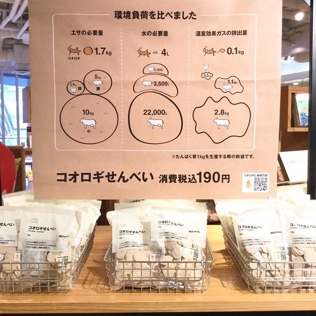 【MUJIキャナルシティ博多】コオロギせんべい再入荷しました|スタッフのおすすめ
