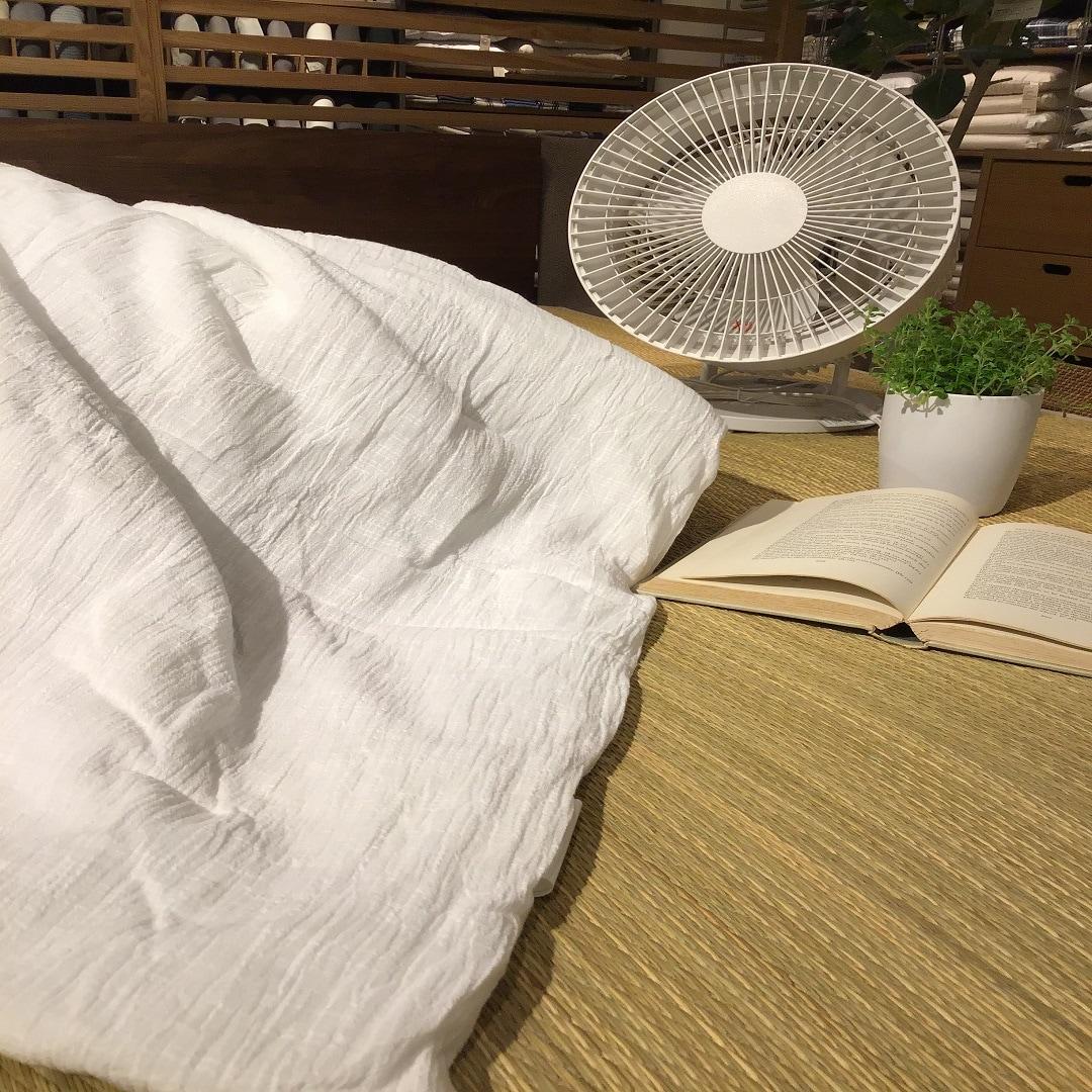 【MUJIキャナルシティ博多】暑い夏を快適に・・・