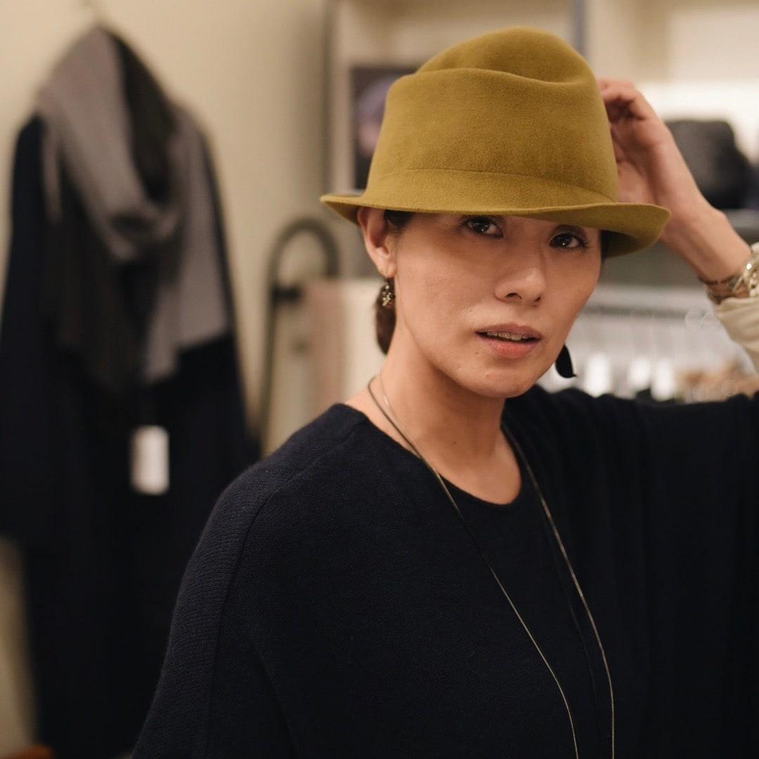 キービジュアル画像:【Délier IDÉE 丸の内】デザイナーさんが来てくれました chisaki winter hat fair~心が躍る自由な帽子~(12/25まで)