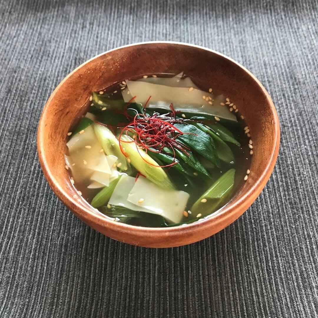 【イオンモール堺北花田】青ねぎと餃子の皮で簡単スープ|あしたのキッチンカウンター