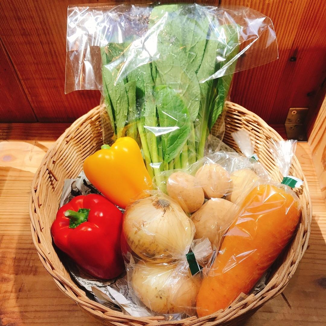 【銀座】野菜セットお届けサービスを始めました 1F 野菜売り場