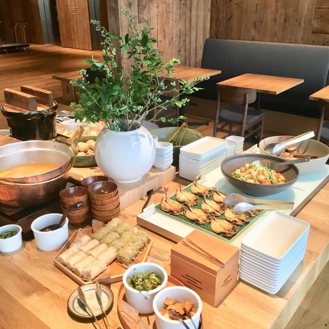 キービジュアル画像:レストランWAの朝食|MUJI HOTEL GINZA