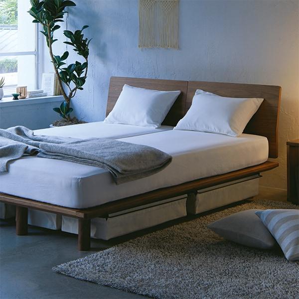 キービジュアル画像:ベッドフレームで快適な寝心地を。