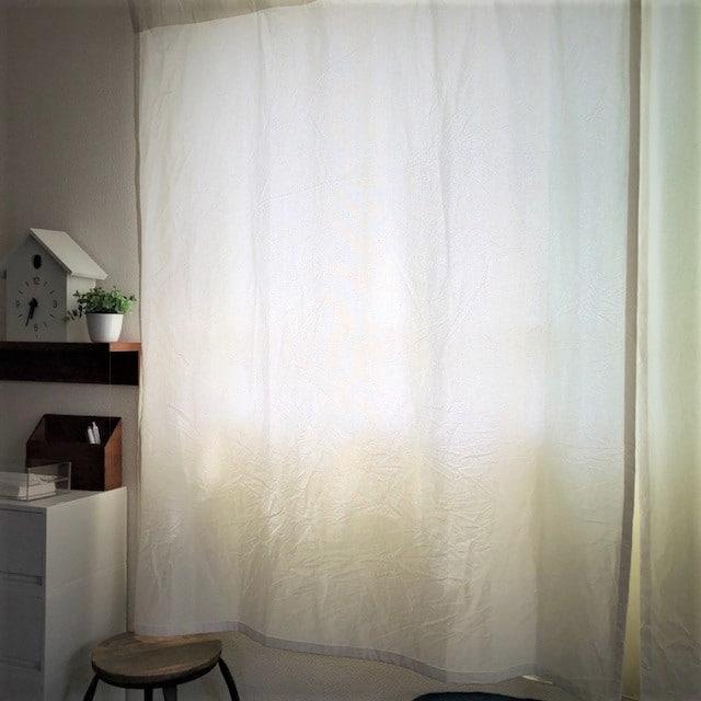 【エミフルMASAKI】シンプルなノンプリーツカーテン