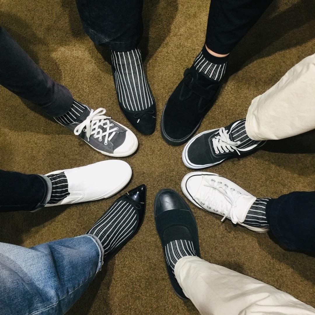 【アピタタウン金沢ベイ】あっちもこっちもストライプ『えらべる靴下』