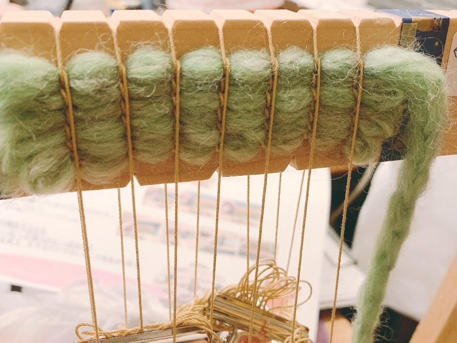 【シエスタハコダテ】アンギン編みで作るコースター3