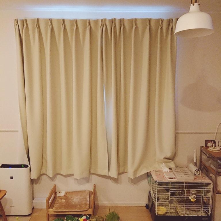【ゆめタウン山口】腰窓のカーテン