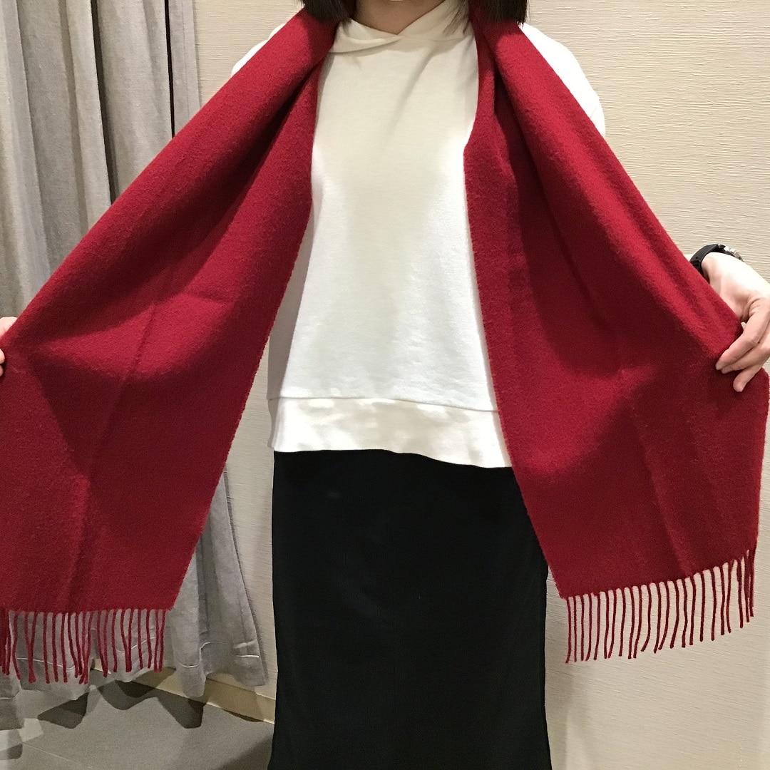 【トキハわさだタウン】ウール織りマフラー