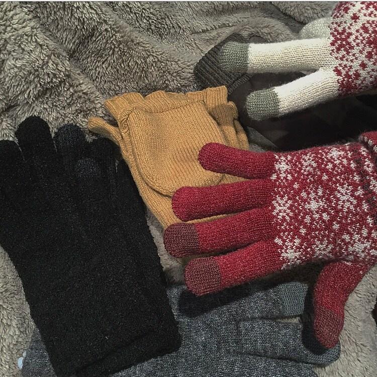 """【MUJI to GO 新千歳空港】~北国の寒さ対策""""手袋""""~"""