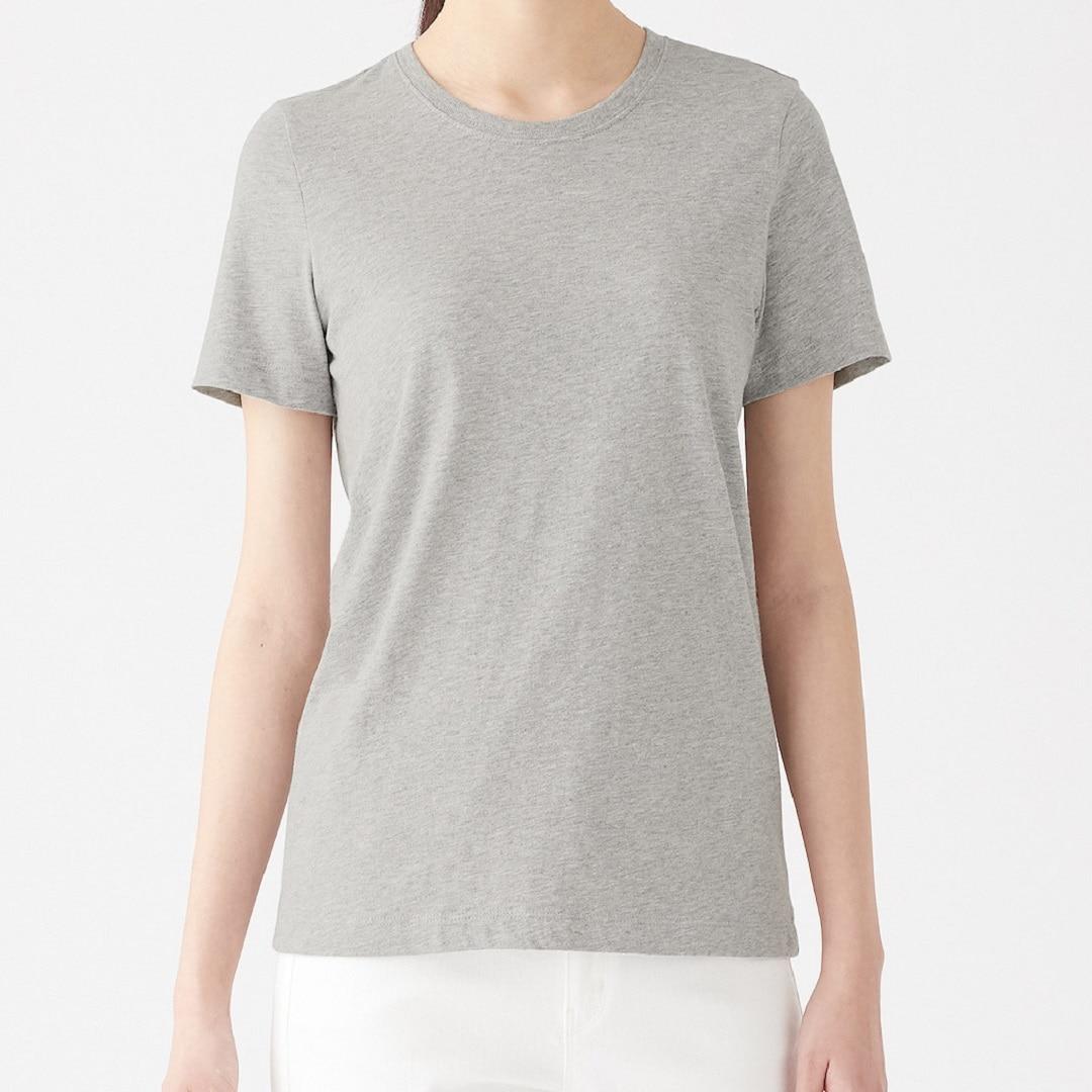 綿でさらっと グレーTシャツ