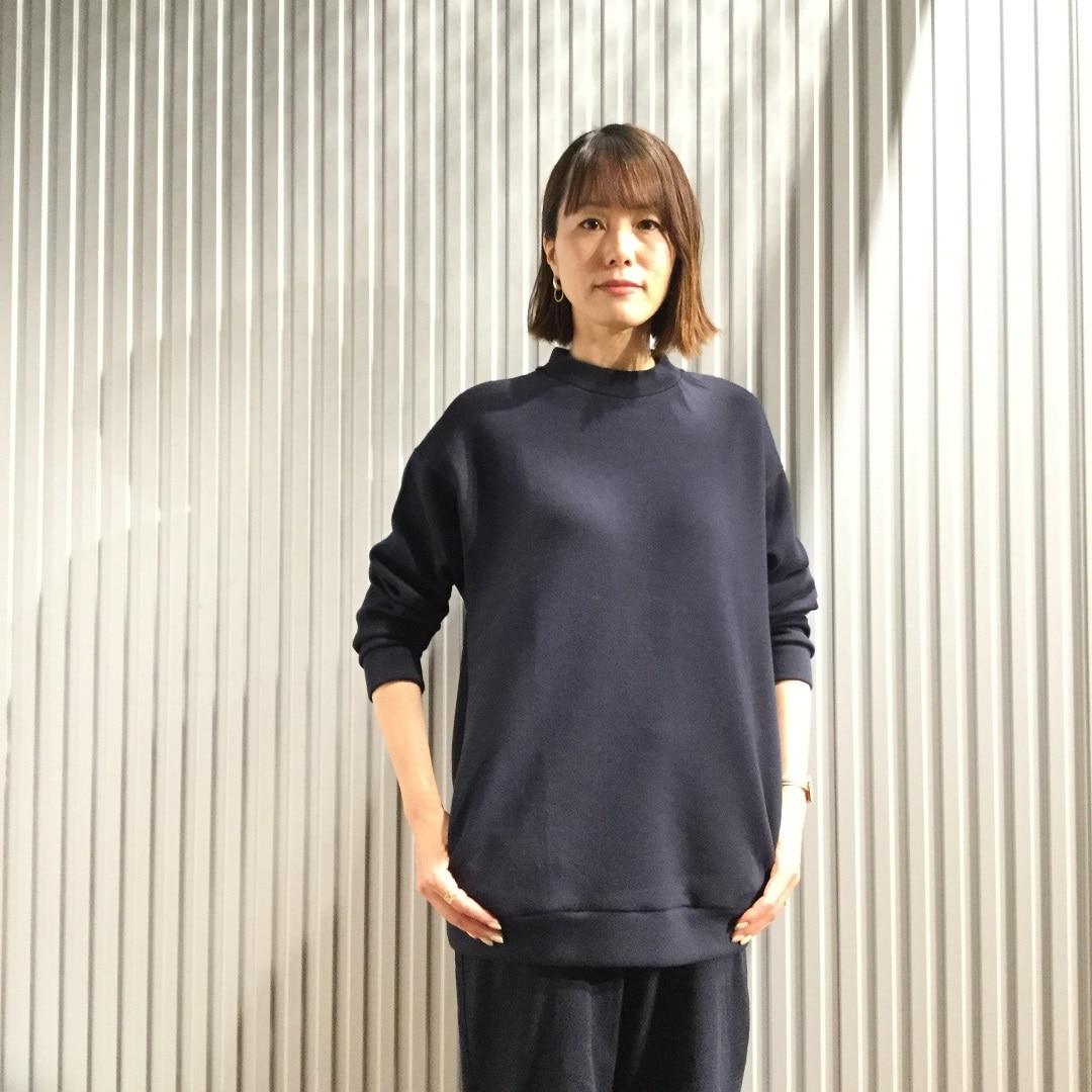 【MUJIキャナルシティ博多】チュニックダークネイビー1