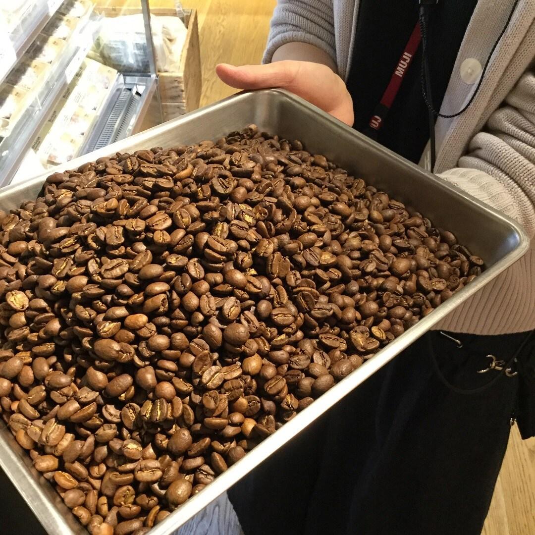 【MUJIキャナルシティ博多】焙煎したてのお豆