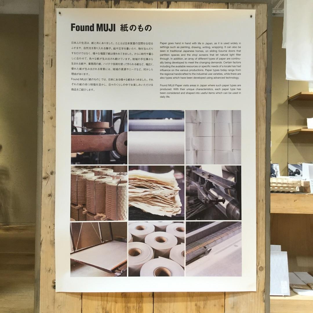 【MUJIキャナルシティ博多】紙のものポスター