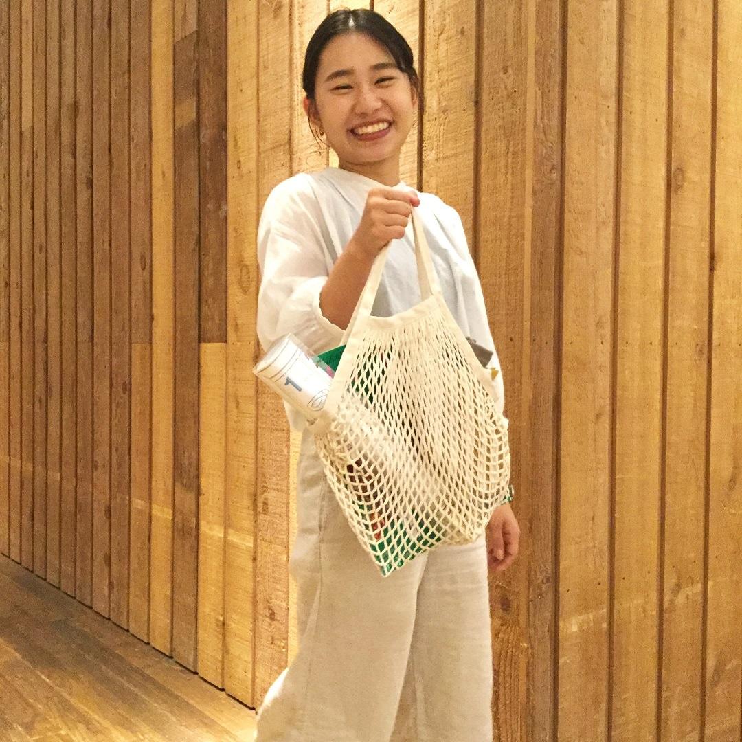 【MUJIキャナルシテ博多】コットンメッシュバッグ
