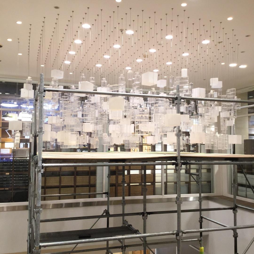【MUJIキャナルシティ博多】照明のひとつひとつ