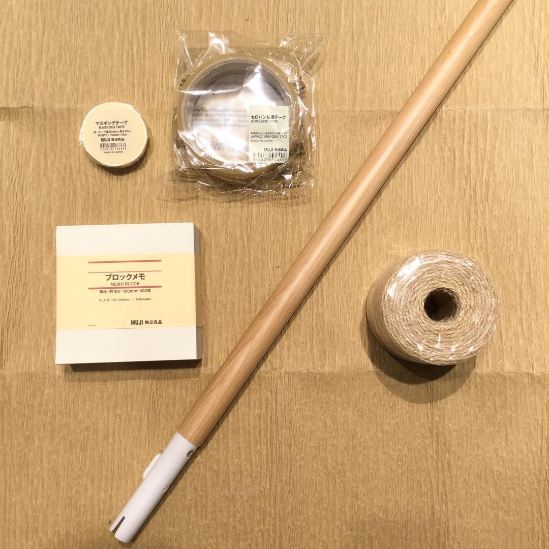 【MUJIキャナルシティ博多】くじ引き作成用道具