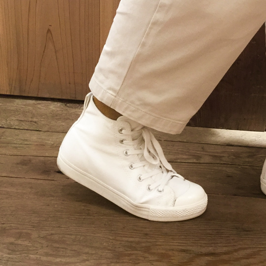 【MUJI キャナルシティ博多】足なり直角テーパード靴下3