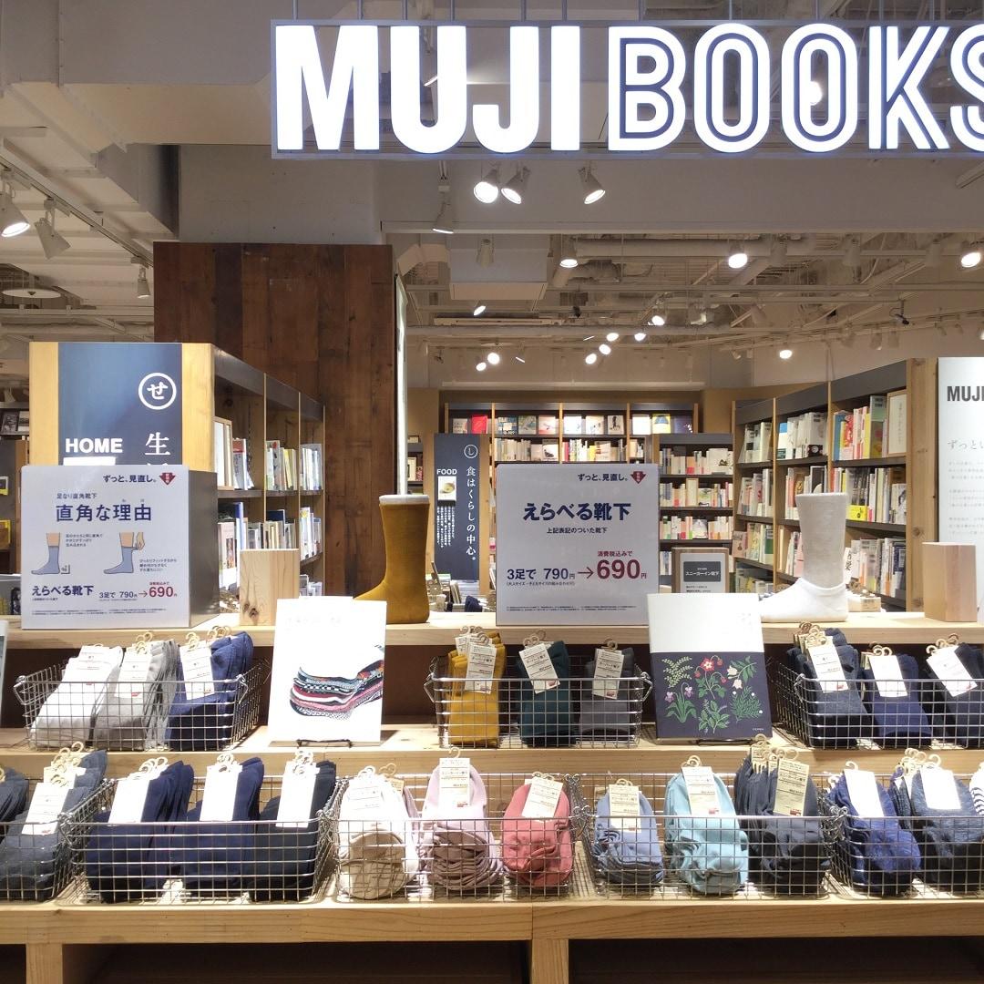 【MUJIキャナルシティ博多】足なり直角靴下入口4