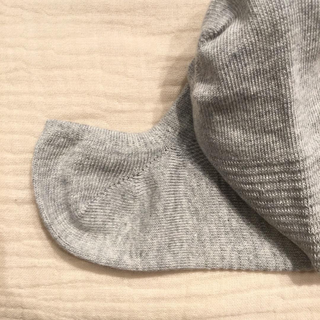 【MUJIキャナルシティ博多】足なり凹凸パイル編みスニーカーイン靴下3