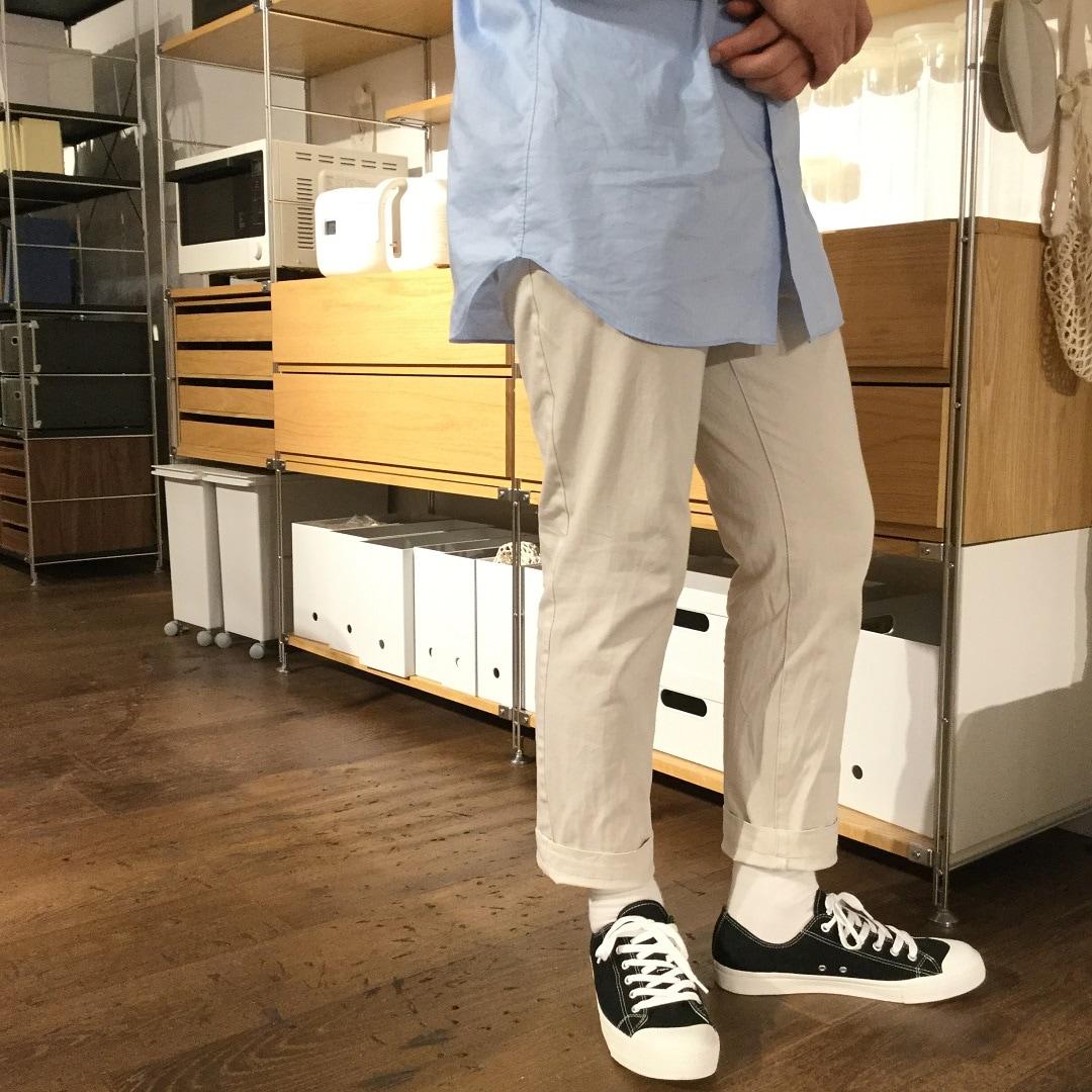【MUJIキャナルシティ博多】足なり直角足のサイズに合わせてくれる靴下3