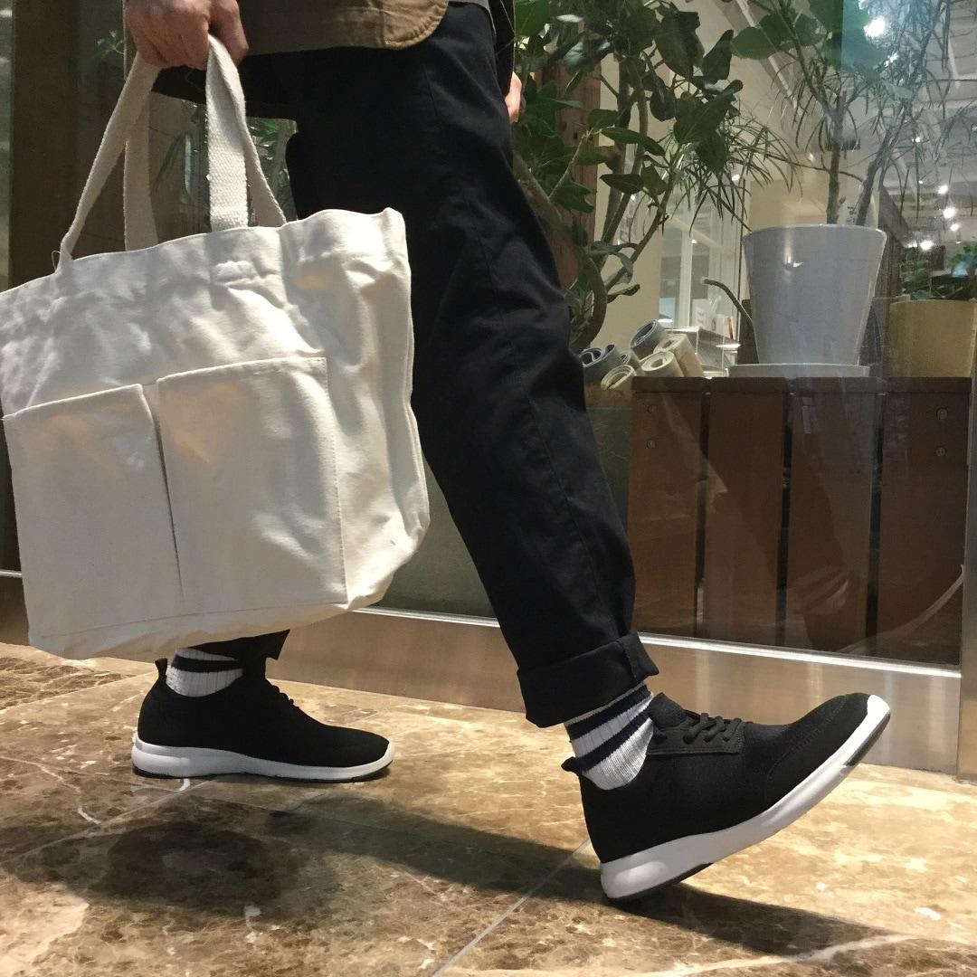 【MUJIキャナルシティ博多】足なり直角中厚手ショート丈靴下3