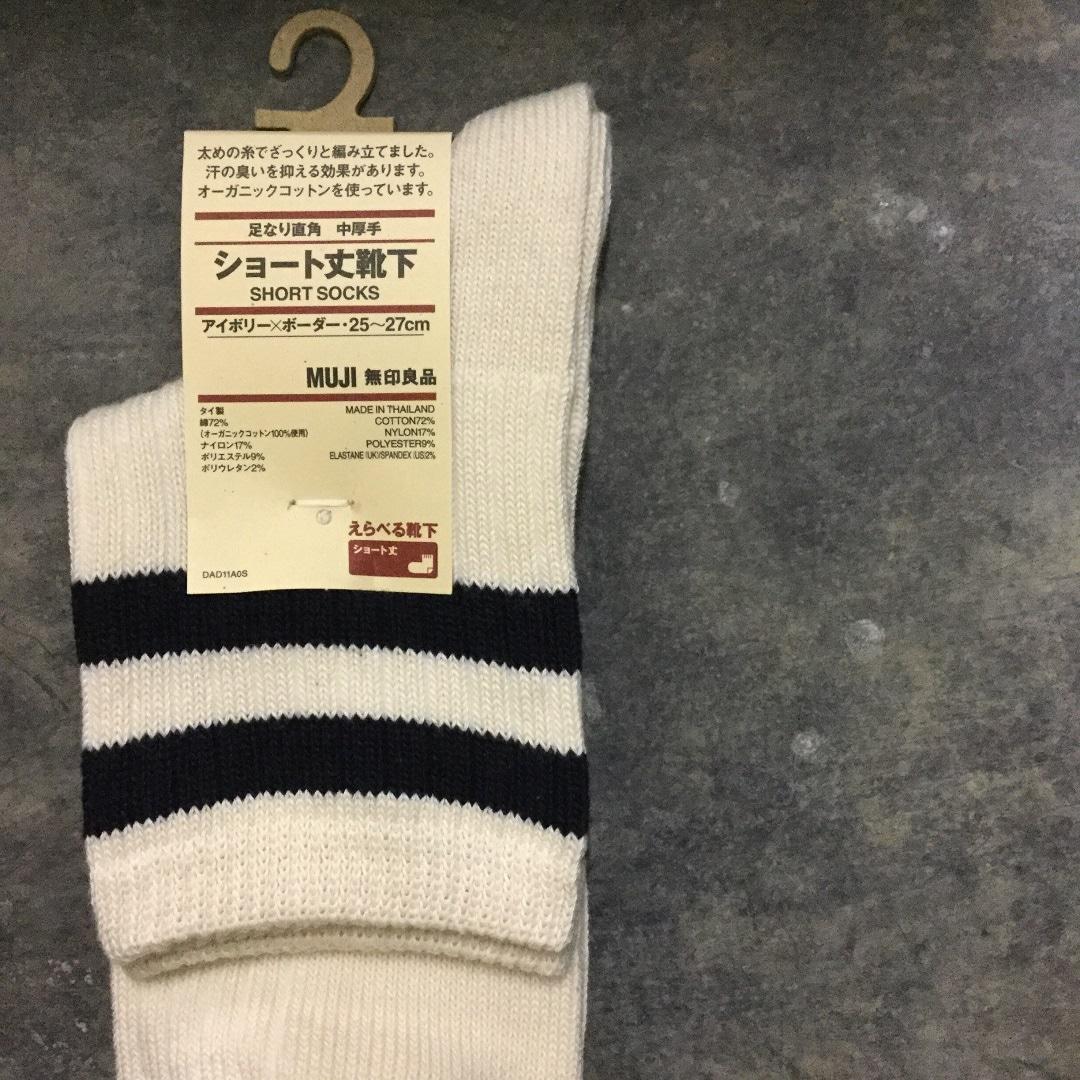 【MUJIキャナルシティ博多】足なりショート丈直角靴下3