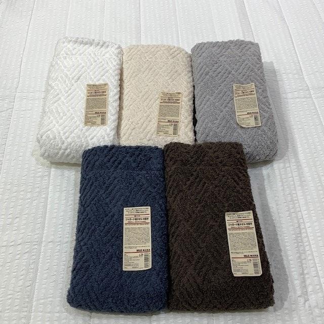 【木の葉モール橋本】清々しい気持ちで毎日をスタートさせる!綿パイルジャガード織タオル。