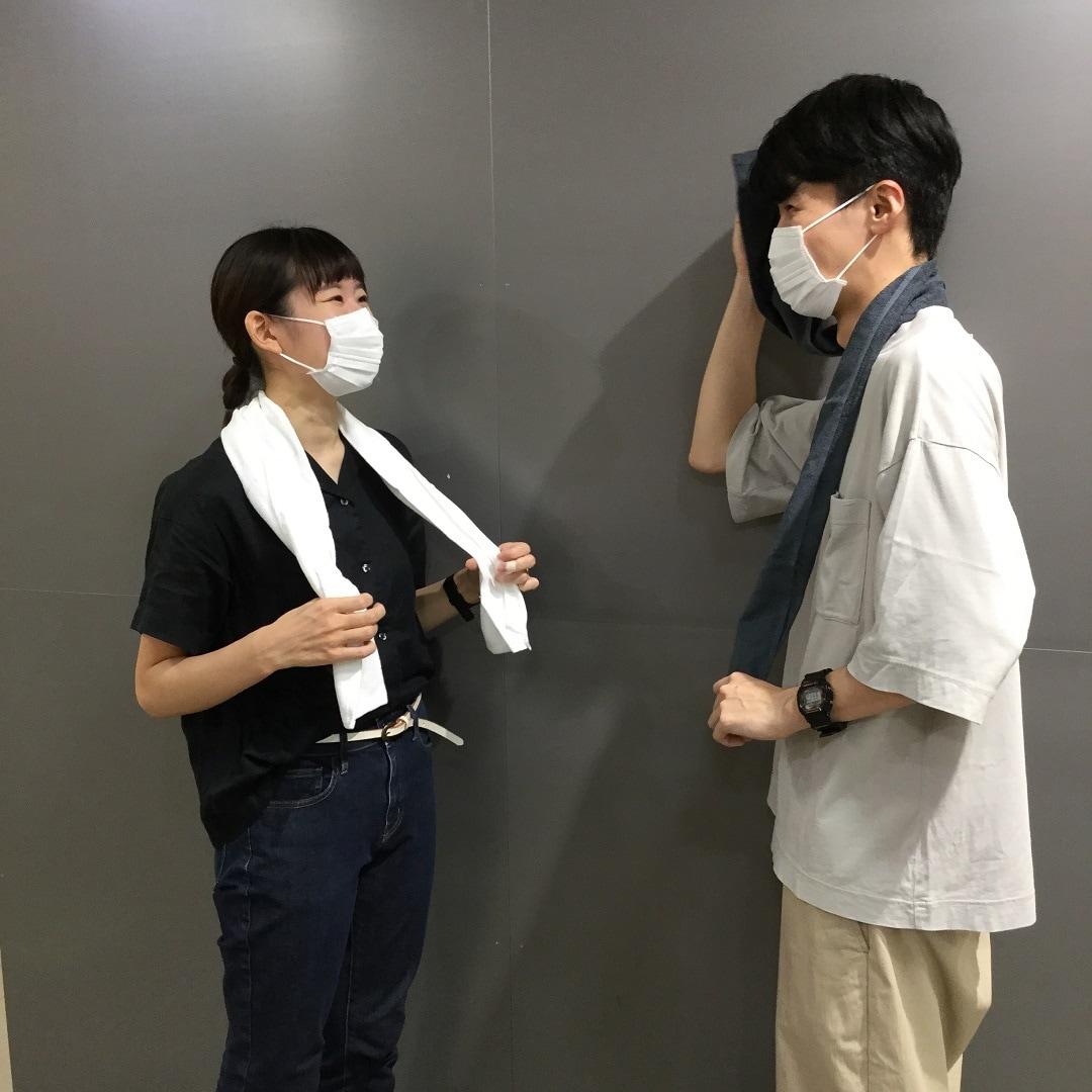 【東急プラザ戸塚】巻いて結べる長タオル