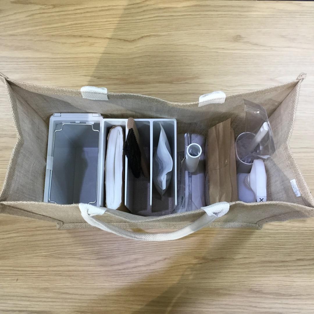 ジュートマイバッグ収納例