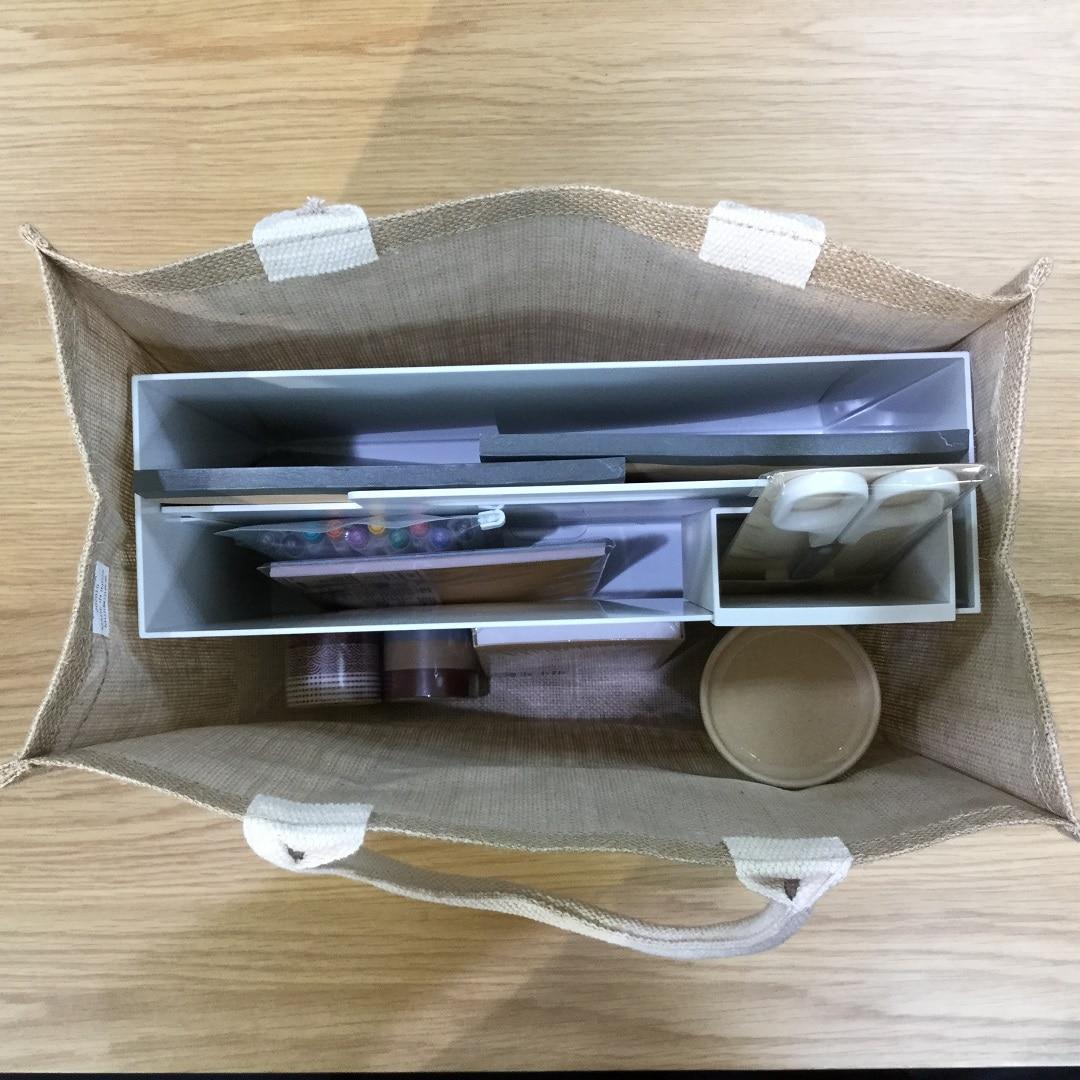 ジュートマイバッグA4サイズ収納例