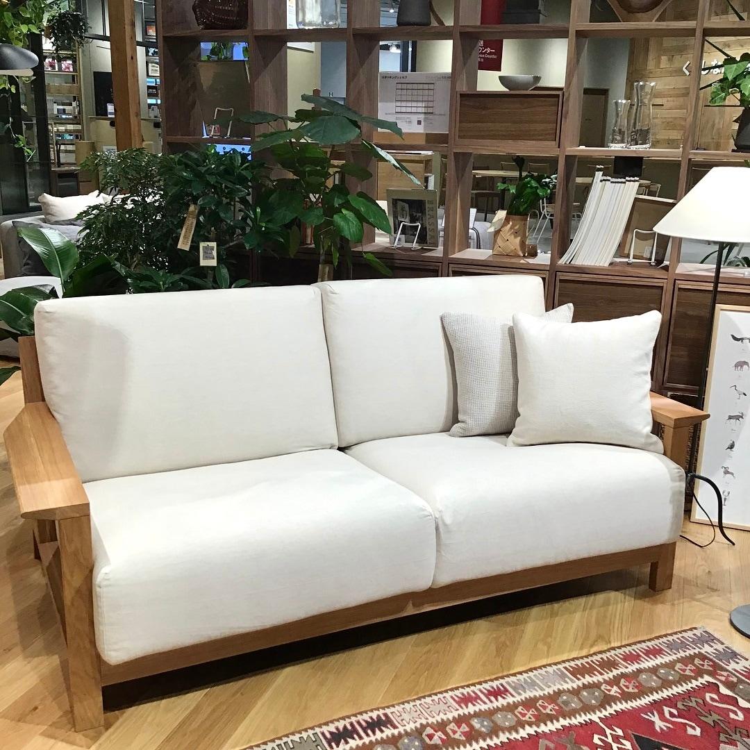 木製ソファ本体の写真