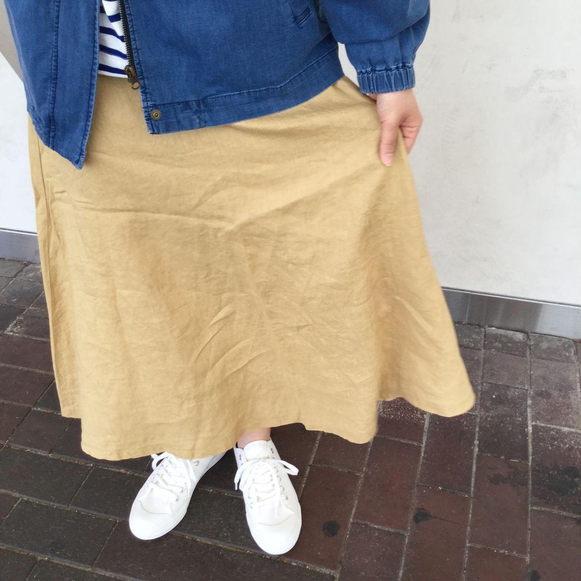 【さんすて岡山】麻とくらす|フレンチリネンフレアスカート