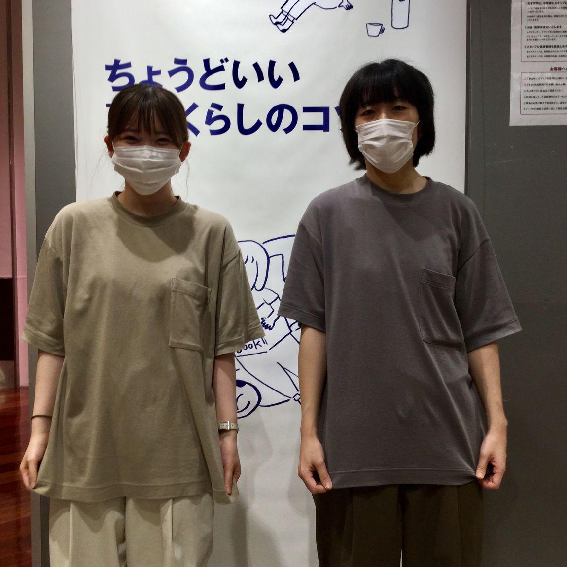 【さんすて岡山】女性も、男性も。 男女兼用インド綿二重編みビッグTシャツ