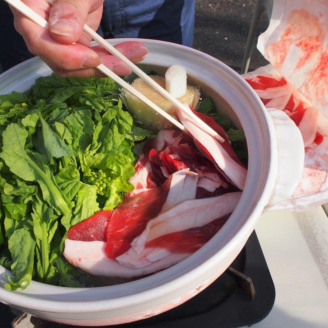 牡丹鍋準備中