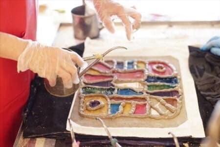 【堺北花田】「堺をつなぐ古代米」~記念手ぬぐい展示と注染実演会~