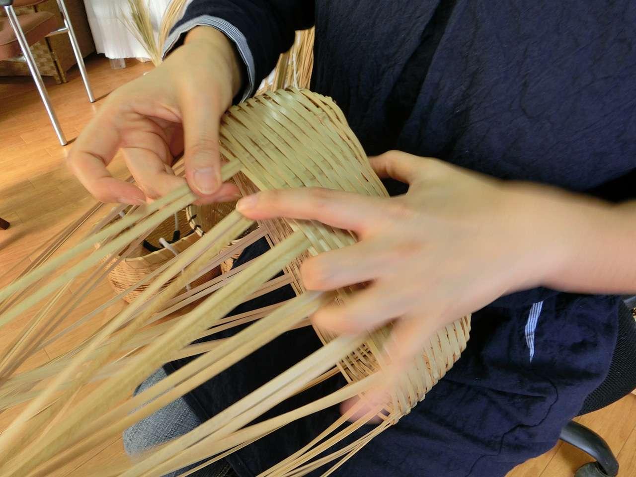 キービジュアル画像:房州の地竹を利用した手づくり竹籠
