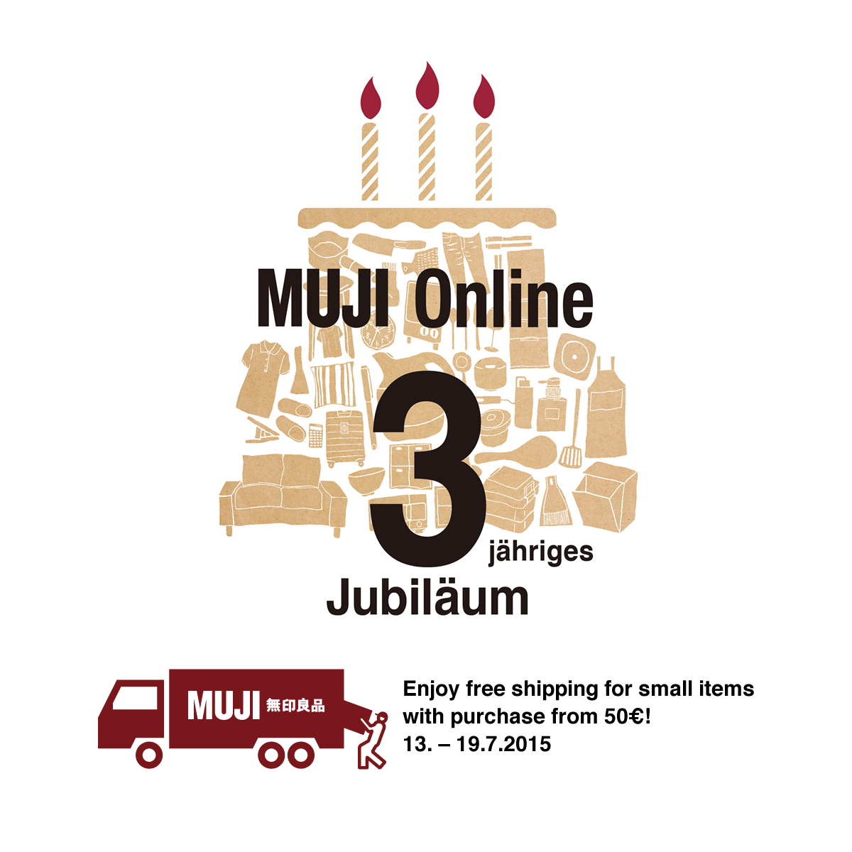 Enjoy free shipping for small items with purchase from 50€!
