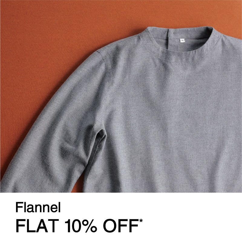 Flannel FLAT 10% OFF
