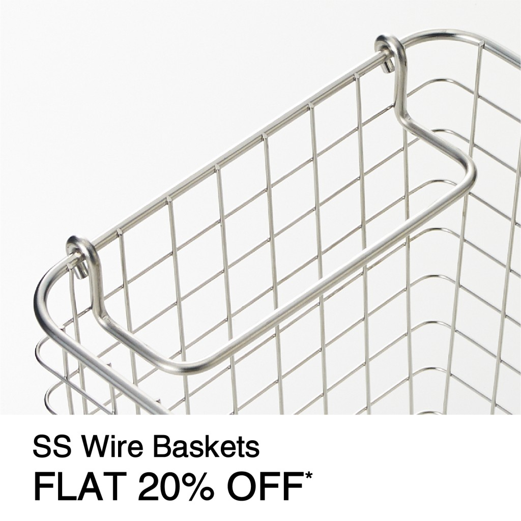 SS Wire Baskets FLAT 20% OFF