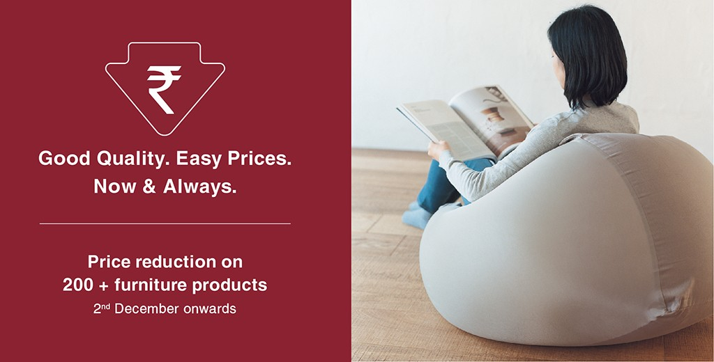 MUJI Furniture Prices Reduced in India